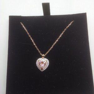 Swarovski New Amber Crystal Heart Necklace